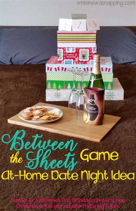 sheets game  home date night idea