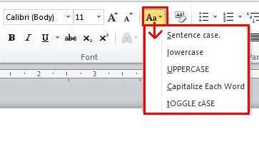 Belajar Cepat Office 2010 cepat mengubah huruf kapital atau change microsoft
