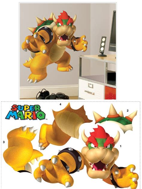 mario brothers wall stickers mario brothers bowser wall sticker