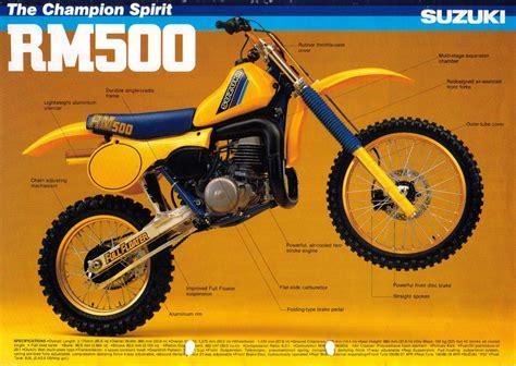 Rm500 Suzuki Suzuki Rm500 Brochures