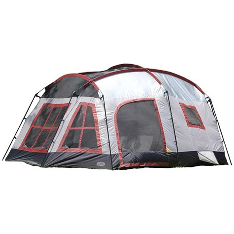 three room cabin tent texsport 174 highland 3 room cabin tent 293801 cabin tents at sportsman s guide