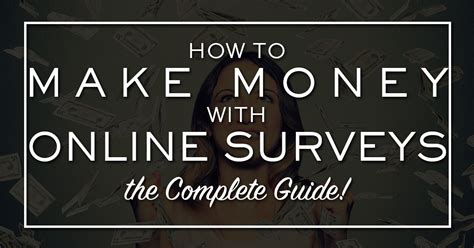 Completing Online Surveys For Money - how to make money completing online surveys stock trading canada dummies