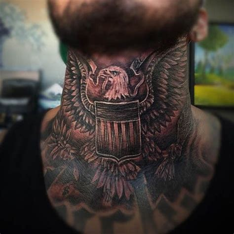 eagle tattoo in neck 225 best images about neck tattoos on pinterest