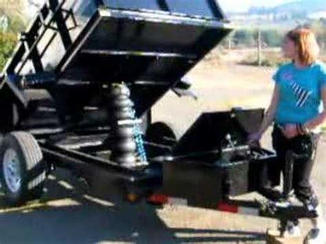 air spring dump trailer youtube