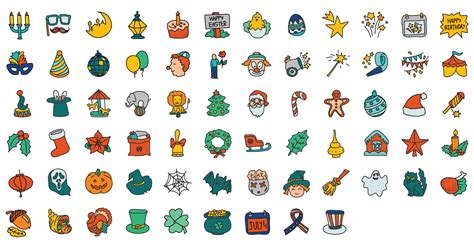doodle calendar security doodle icon set icons