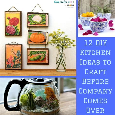Craft Ideas For Kitchen 12 Diy Kitchen Ideas To Craft Before Company Comes Favecrafts