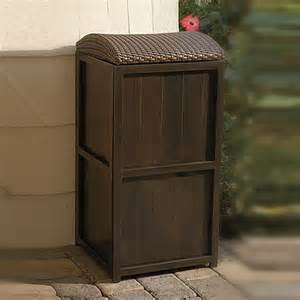 Backyard Grill Brand Buy All Weather Wicker 21 Gallon Trash Can From Bed Bath