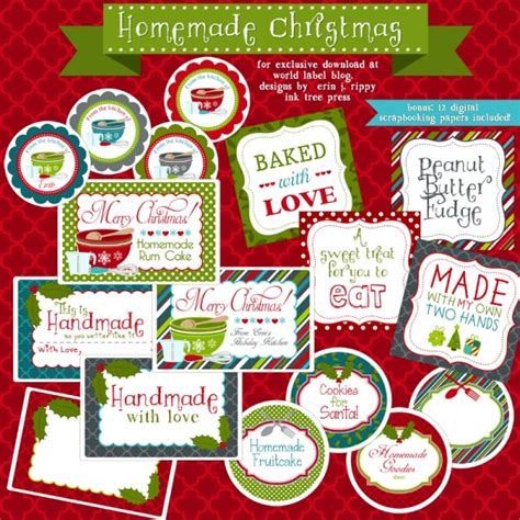free printable gift tags for baked goods printable christmas labels for homemade baking