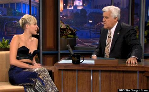 News Wardrobe On Live Tv by Miley Cyrus Cleavage Baring Top Risks A