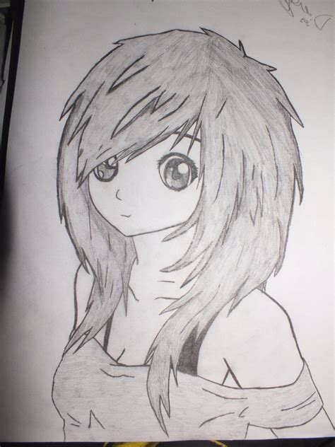 create drawings easy pencil drawings of anime easy draw anime