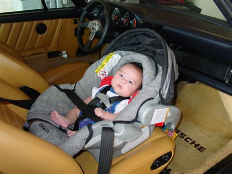 porsche 911 baby seat we re going to a baby yyyeeeaaa baby seat