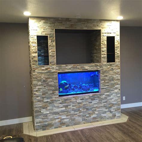 tv unit design with aquarium fish tank and tv stand diy pinterest fish tanks tv