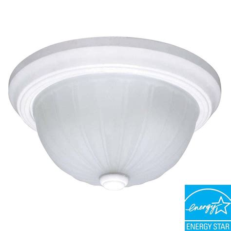 home depot dome light glomar 3 light white dome flushmount hd 445 the home depot