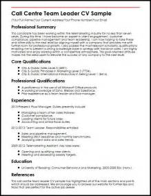 Call Centre Team Leader Cv Sample Myperfectcv