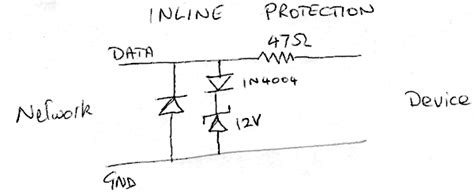 diode bridge protection circuit 1 wire surge protection