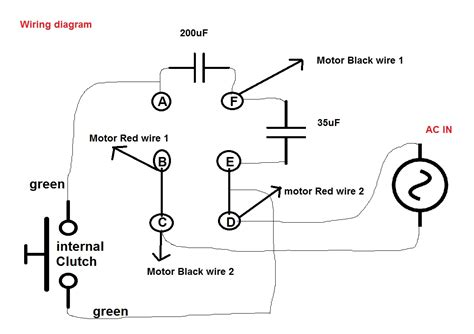 motor with capacitor wiring diagram dejual