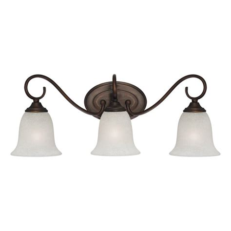 Shop Millennium Lighting 3 Light Rubbed Bronze Standard 3 Light Bathroom Light