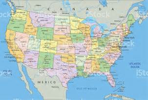 detailed map of america united states of america highly detailed editable