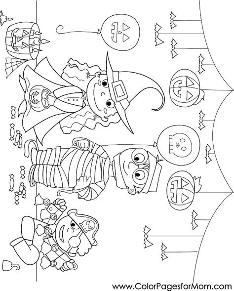 halloween coloring pages advanced advanced coloring pages halloween trick or treaters