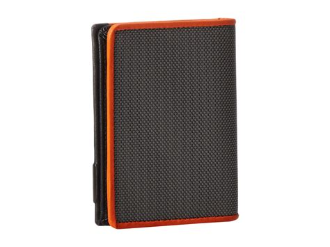 Tumi Gift Card - tumi alpha gusseted card case with id in orange for men lyst