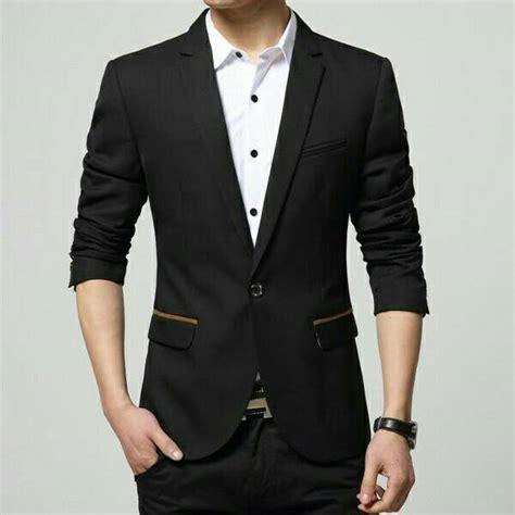 Blazer Bagus jual blazer cowok formal hitam black japan korea style