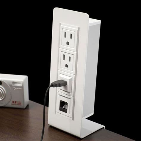 desk with electrical outlets pinterest the world s catalog of ideas