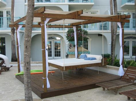 porch hangers inspiration bedroom very popular teak outdoor hanging beds
