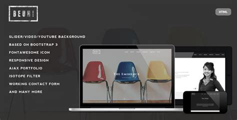 Cizarua Responsive One Page Portfolio Template beuh responsive one page portfolio template by ridianur