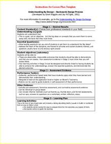 How To Design A Lesson Plan Template by Resume Business Template Backwards Design Lesson Plan