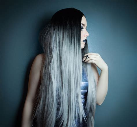grey ombre grey ombre lush wigs long straight grey ombre lace