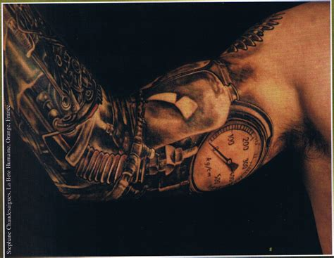 biomechanical tattoo elbow dark biomechanical tattoo on elbow tattooshunt com