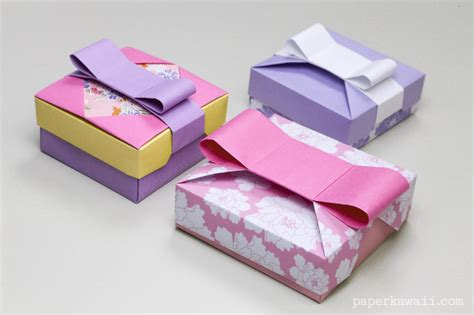 How To Make Paper Gift Boxes With Lid - origami gift box mix match lids paper kawaii