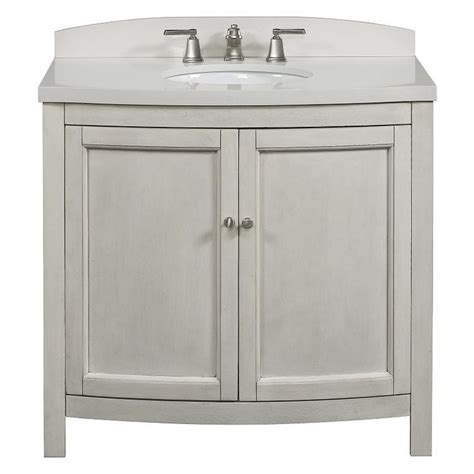 allen roth moravia antique white undermount bathroom vanity  engineered stone top