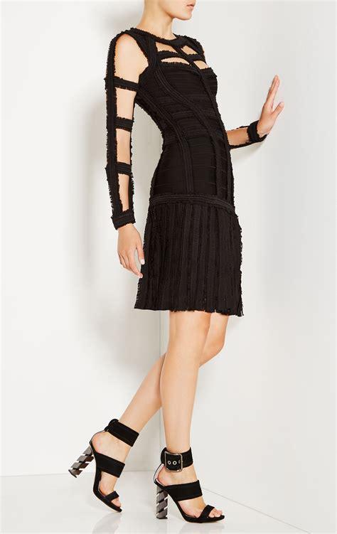 Cp Black Rayon Print Oscar Fashion3 brielle chiffon detail dress