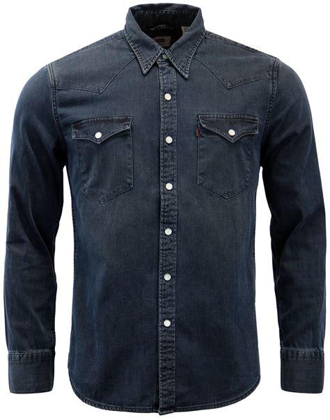 levis barstow retro  mens western denim shirt