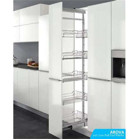 Pantry Pull Out Hardware by Soft Pull Out Pantry Unit Photo Arova Hardware