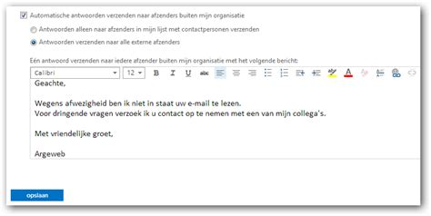 email out of office out of office instellen in owa 2013 argeweb