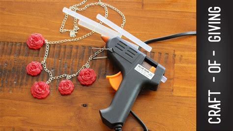 gun crafts for diy glue gun necklace craft of giving