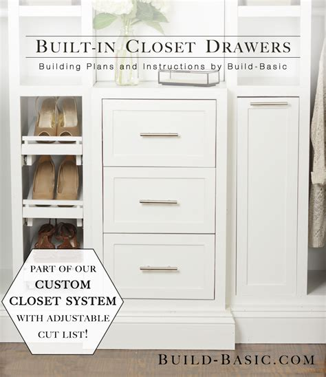 The Build Basic Closet System ? Built in Closet Drawers