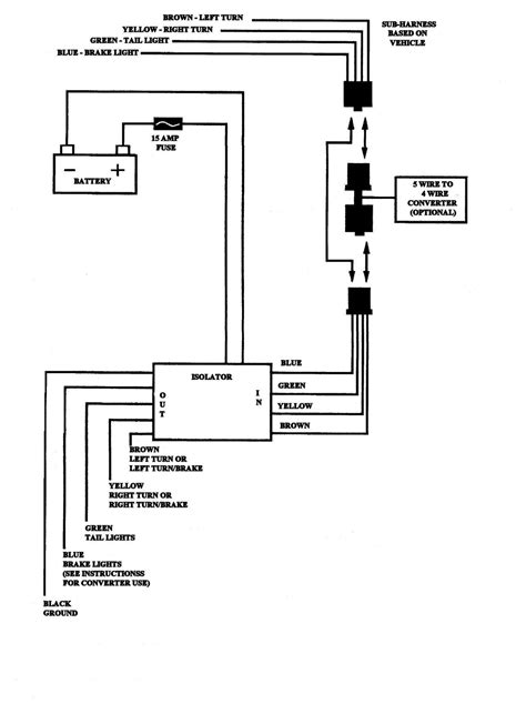 4 Wire Toyota Tacoma Trailer Wiring Diagram | Electrical