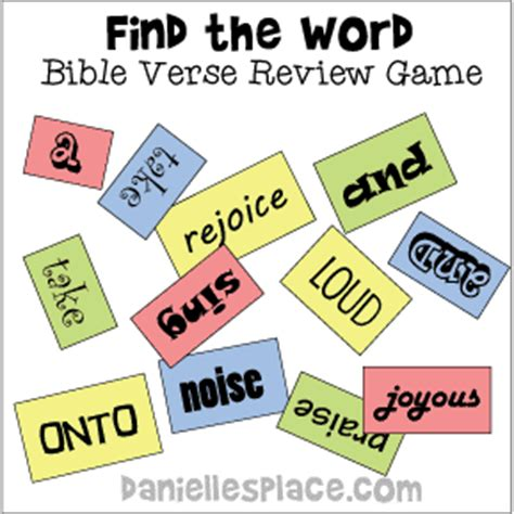 Marvelous Church Youth Group Lessons And Activities #4: Bible-verse-review-game.gif