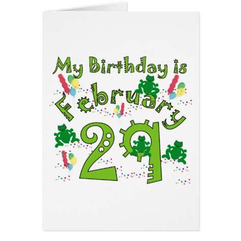 leap year birthday card template leap year birthday card zazzle