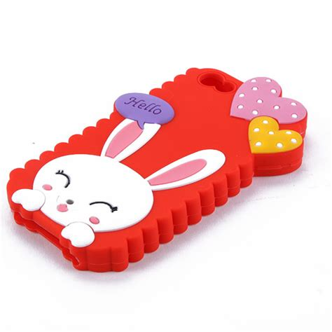 Kkpk Three Happy Soft Cover sweet rabbit lovely tpu silicone soft cover for iphone 5c ebay