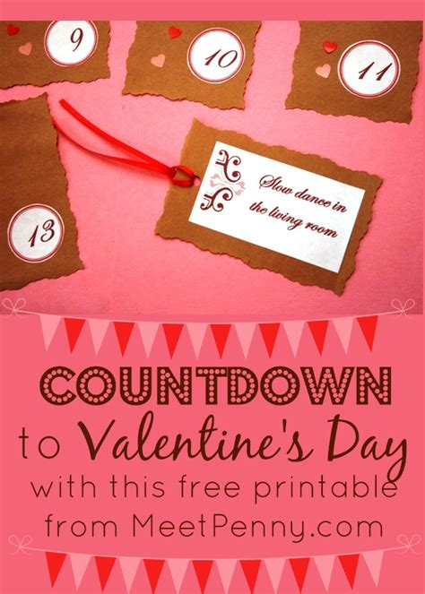 countdown to valentines day a countdown for couples free printables meet