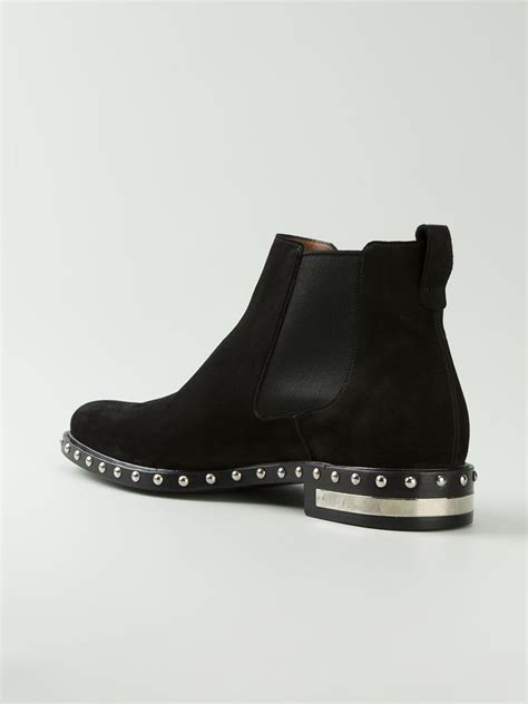 Givenchy 3008bs Side Studed lyst givenchy studded chelsea boots in black for