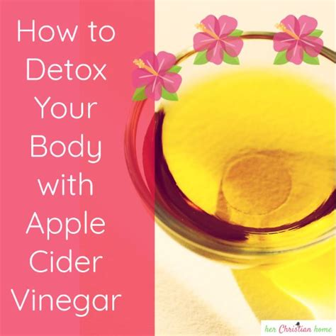 How To Make An Apple Cider Vinegar Detox Drink by How To Detox Your With Apple Cider Vinegar