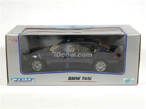 Diecast Bmw 745i By Welly Original 2002 bmw 745i diecast model car 1 18 scale die cast by