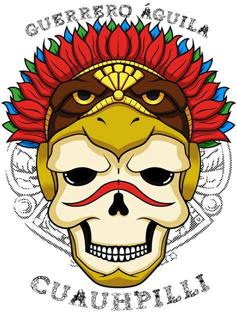 imagenes calaveras aztecas calavera guerrero 193 guila azteca on behance
