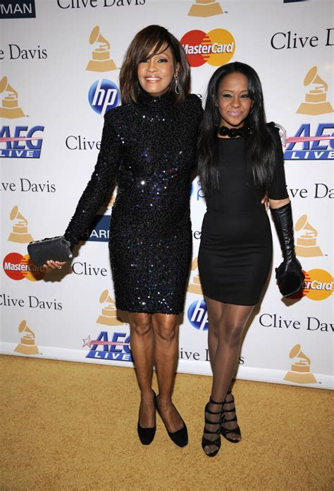 whitney houston and her daughter bobbi kristina in hospital bobby brown requests privacy