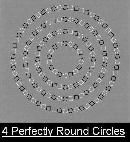 ilusiones opticas graciosas ilusiones 243 pticas cuatro c 237 rculos perfectos imagenes